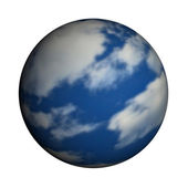 Mother Earth on a white background. — Stock Photo