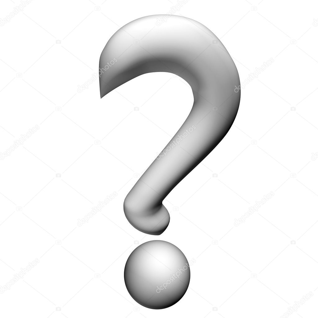 Black And White Question Mark Background Question Mark 3d a White