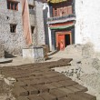 Ladakh, India, capital Leh, manufacturing of bricks for building — Stock Photo #3851504