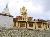 Ladakh, India, a monastery of Likir, sitting Buddha Maytreya. — Stock Photo