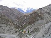 Monastery in mountains, Ladakh, India. — Stock Photo