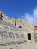 Ladakh, indien, kapital leh, berg möblera. — Stockfoto