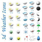 Icons of symbols of weather, it is isolated, 3d. — Stock Photo