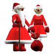 Santa Claus or Father Frost, girl Santa Claus or Snow Maiden — ストック写真