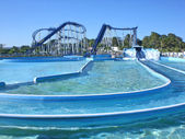 Waterslide, aquapark in Algarve, Portugal. — Stock Photo
