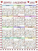 Erotyczny kalendarz na rok 2012. — Zdjęcie stockowe