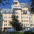 Стоковое фото: House with decorative furnish, Alev lane, Moscow.