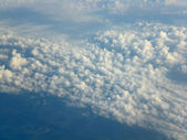 Clouds from height of the bird's flight. — Stock Photo
