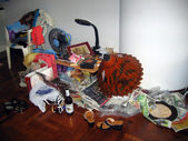Heap of souvenirs in a room of the hotel, Pattaya, Thailand — Stock Photo