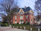 The Netherlands, the house in the city of Leiden — Stock Photo