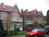 The Netherlands, the house in the city of Haarlem. — Stock Photo