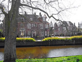 The Netherlands, the river in the city of Haarlem. — Stock Photo
