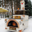 Oven of Emelyfrom fairy tale in winter in park — Stock Photo #5109954