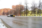City street landscape, Domodedovo, Moscow Region — Stock Photo