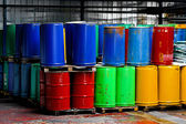Colorful barrels — Stock Photo