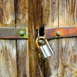 Stock Photo: Rusty padlock