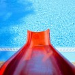 Red toboggan — Stock Photo