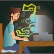 IT engineer — Imagen vectorial