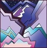 Abstract mountains — Stock Vector