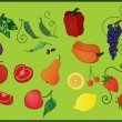 Fruits_and_vegetables — Stock Vector