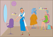 Beauty salon haircut invitation — Stock Vector