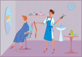 Beauty salon bad haircut — Vettoriale Stock