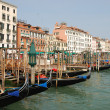 Royalty-Free Stock Photo: Venice harbour with gondolas