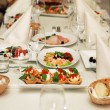 Restaurant wedding banquet table - Stock Photo