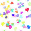 Hearts of different colors — Stock Photo