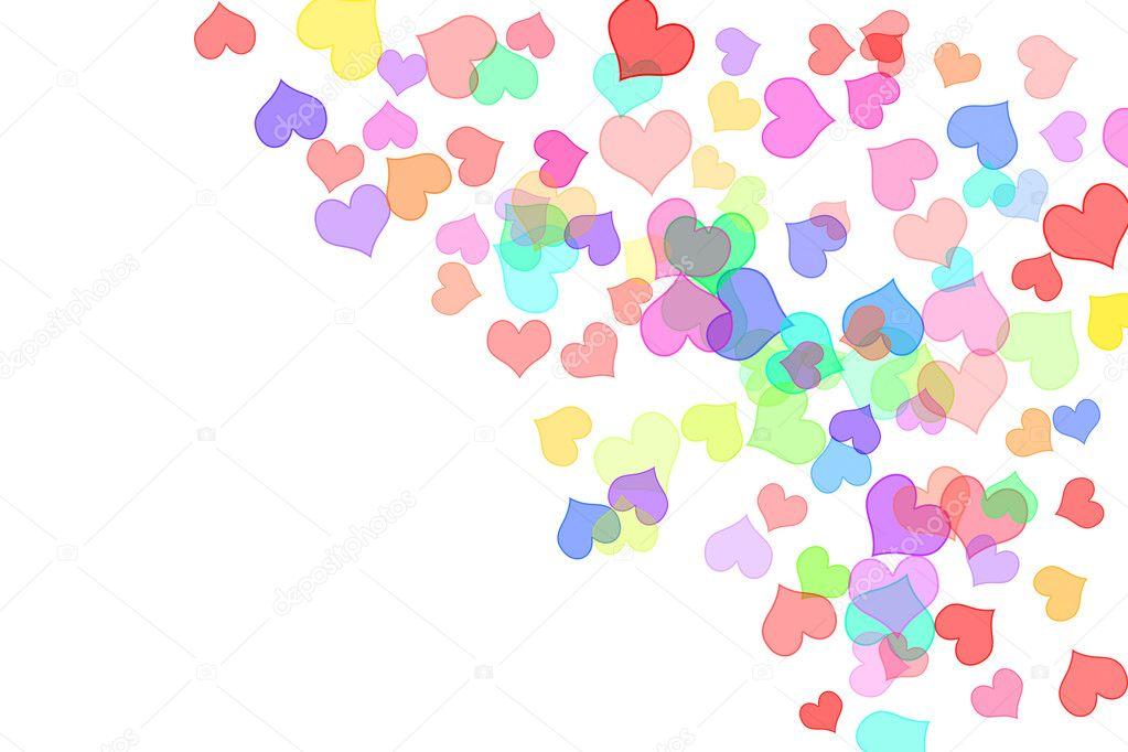 corazones de colores fondo - photo #36