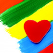 A heart-shapped candy — Stock Photo