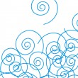 Stock Photo: Blue spirals