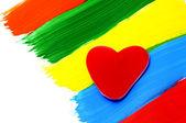 Un dulce corazón-shapped — Foto de Stock