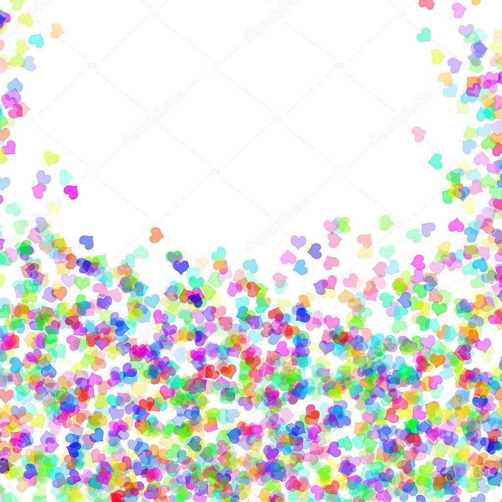 corazones de colores fondo - photo #18
