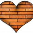 Bricks heart — Stock Photo