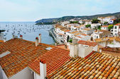 Aerial view of Cadaques, Spain — Stock Photo