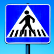 Royalty-Free Stock Photo: Pedestrian crossing sign