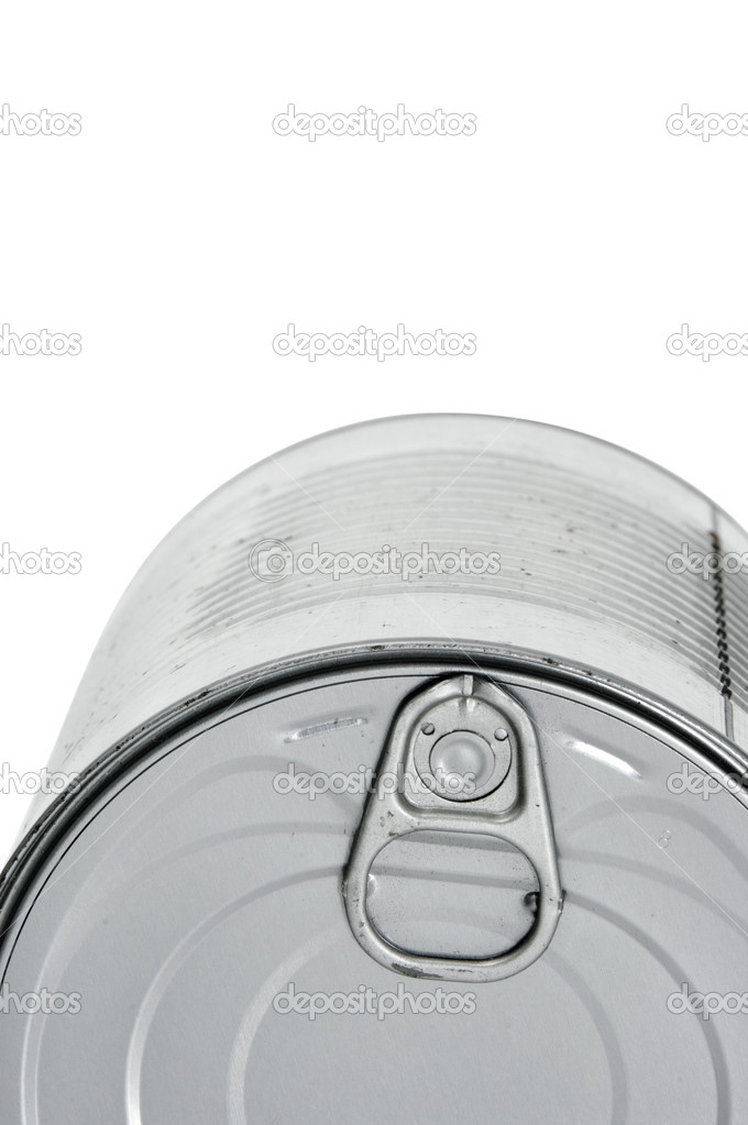 Closeup of a can isolated on a white background — Stock Photo #3568580