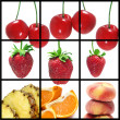 Fruits collage — Photo