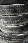 Pneumatic tyres — Stock Photo