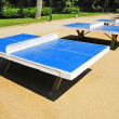 Stock Photo: Ping-pong tables