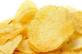 Ruffled potato chips — Stock Photo