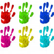 Colors Handprint - Zdjcie stockowe