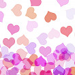 Hearts of different colors - Stock Photo