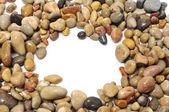 Pebbles frame — Stock Photo
