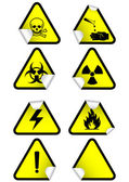 Vector set of chemical warning signs. — Stock Vector
