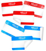 Vector set of blank adhesive name badges. — Stockvektor