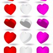 Vector illustration of three-dimensional heart shape. — Stock Vector #3530291