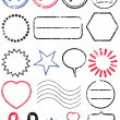Stamp vector illustration set. — Stock Vector