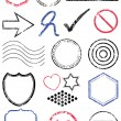 Royalty-Free Stock Vector Image: Stamp vector illustration set.